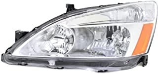 Headlight Lens and Housing Compatible with 2003-2007 Honda Accord Coupe/Sedan CAPA Driver Side