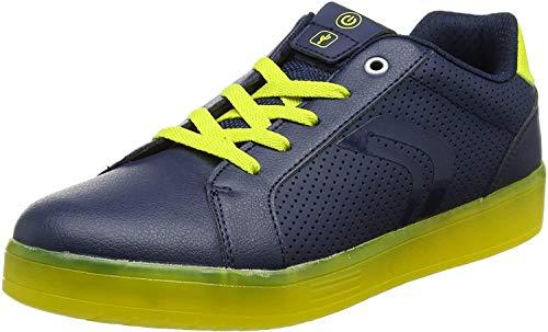 Geox Unisex-Erwachsene J KOMMODOR Boy B Sneaker, Blau (Navy/Lime), 41 EU