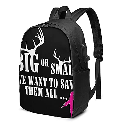 XCNGG Breast Cancer Awareness 03 Travel Laptop Backpack, Backpack with USB Charging Port, for Men Women Fits 17 Inch