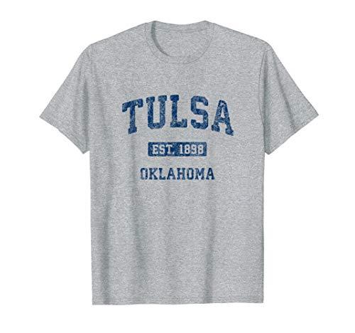 Tulsa Oklahoma OK Vintage Athletic Sports Design T-Shirt