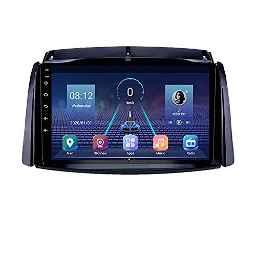 WYZXR Unidad Principal de GPS Android Estéreo para automóvil para Renault Koleos 2008-2016 Navegación GPS Pantalla táctil Reproductor Multimedia Receptor de Radio Carplay DSP RDS (Tamaño: Quad-Cor