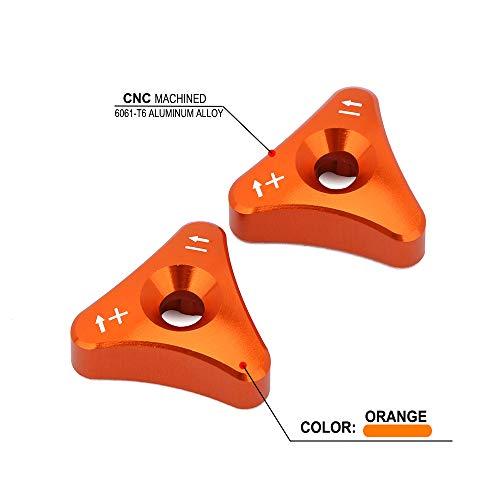 Billet WP Forks Knob Adjuster Set For Motocycle 48mm Forks for Husaberg Orange