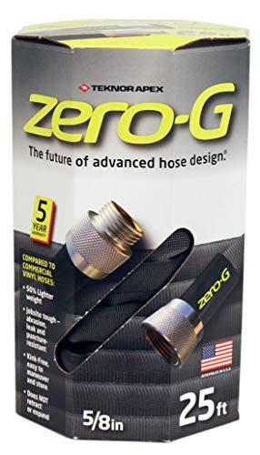 zero-G 25' Lightweight, Ultra Flexible, Durable, Kink-Free Garden Hose, 5/8-Inch by 25-Feet