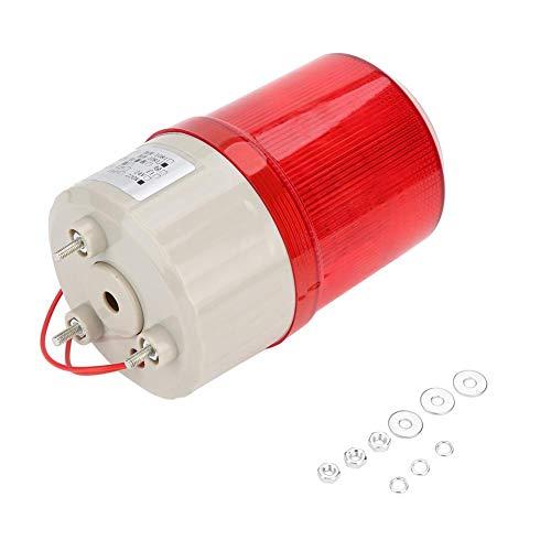 Rotes Warnlicht, Bei BEM-1081 220V Rotes LED-Alarm-Rotationslicht Kabinenwarnlicht Site Akusto-optisches Alarmsystem Rotationslicht
