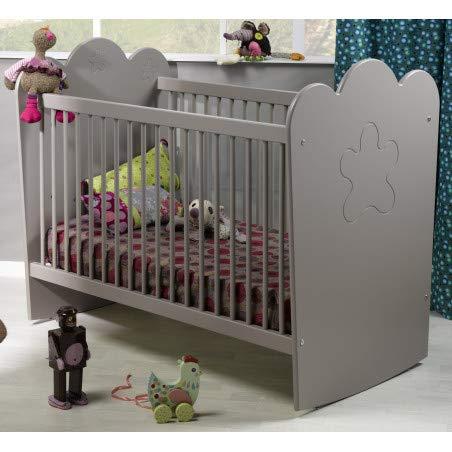 Alfred & Compagnie Lit bébé barreaux lin 60x120