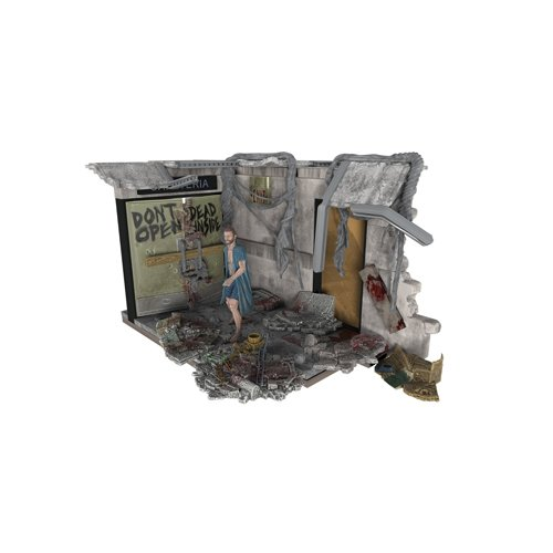 McFarlane- Puzles The Walking Dead Set de Construcci&ampoacuten Puertas Hospital, Multicolor, Ninguna (MC Farlane 14524-3)