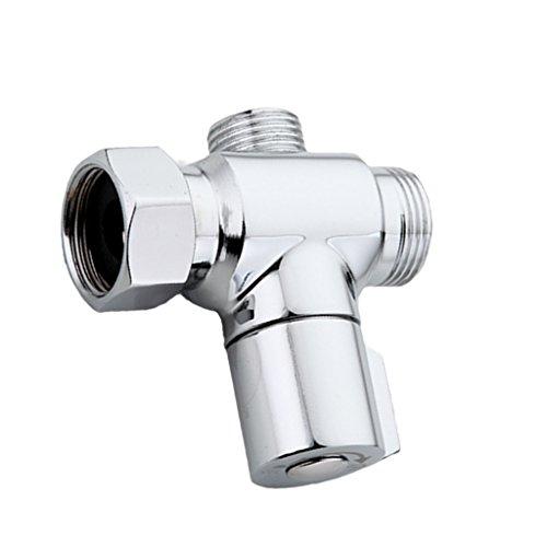 3/4'' bis 1/2'' T-adapter 3 Wege Dusche Mischer Ventil Duschekopf Umsteller Umstellventil Umschalter Umschaltventil