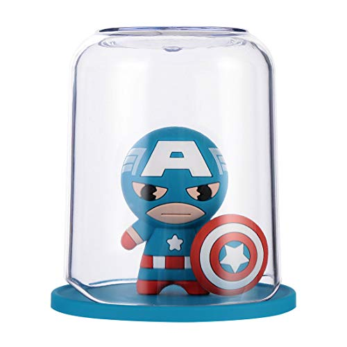 marvel toothbrush holders MINISO Marvel Color Gargle Cups Wash Cup Kids Toothbrush and Toothpaste Holder Mug Bathroom Countertop Organizer - Captain America
