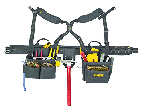 DeWalt 20-Pocket Framer's Combo Apron with Suspenders  $66 at Amazon