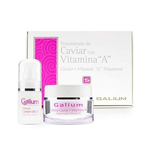 Crema Hidratante CAVIAR + Serum CAVIAR | Vitamina A | Tratamiento Facial PREMIUM | Anti Edad | Reafirma, Nutre y Repara.