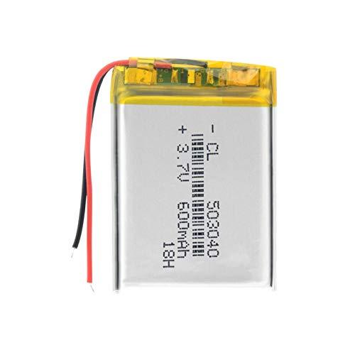 yfkjh 3.7v 600mah 503040 batería de polímero de litio de litio, 40x30x5mm Li-Po batería para grabadora de voz Altavoz e-Book 1 pieza