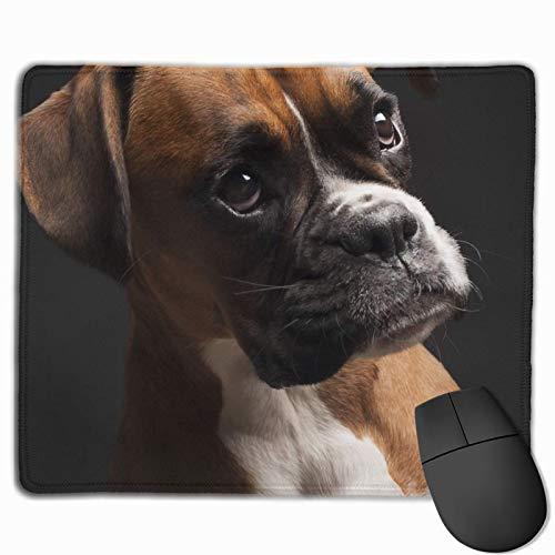 Portrait Boxer Hund rutschfeste Einzigartige Designs Gaming Mauspad Schwarzes Tuch Rechteck Mousepad Kunst Naturkautschuk Mauspad