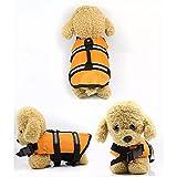 MDKAZ Ropa para Mascotas Chaqueta Rescate Ropa natación Ropa Seguridad Chaleco Traje baño Al Aire Libre Mascota Perro Gato Flotador Perrito Chalecos Salvavidas Regalo para Mascotas-XL