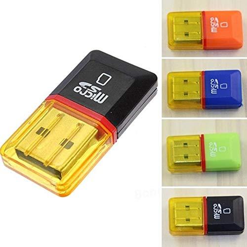 Huhuswwbin Lettore di schede, Adattatore per lettore schede T-Flash di memoria USB 2.0 Mini Micro SD TF 2 Pcs - Colore casuale