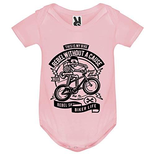 LookMyKase Body bébé - Rebel Without a Cause - Bébé Fille - Rose - 9MOIS