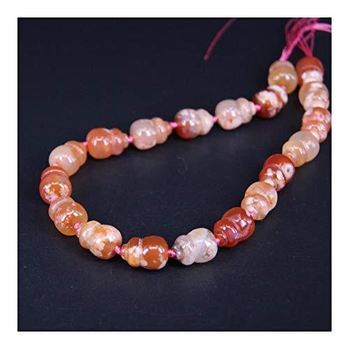 Accesorios Forma 19PCS / Cadena Red Natural Piedra Calabaza Gemas de la Pepita de los Granos Flojos, ágatas fabricación de los Colgantes joyería Regalo