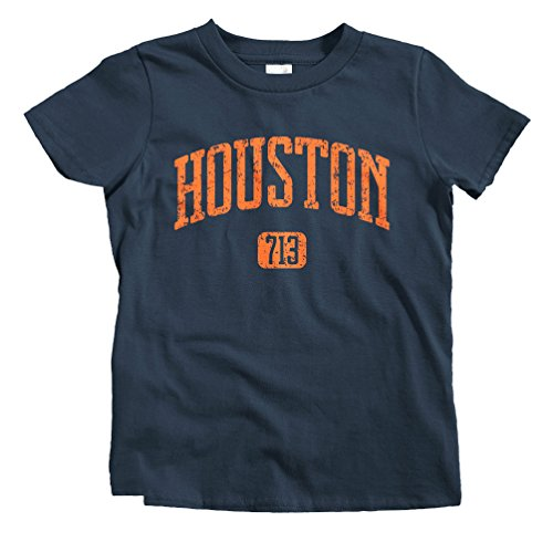 Smash Transit Kids Houston 713 T-Shirt - Navy, Youth X-Large