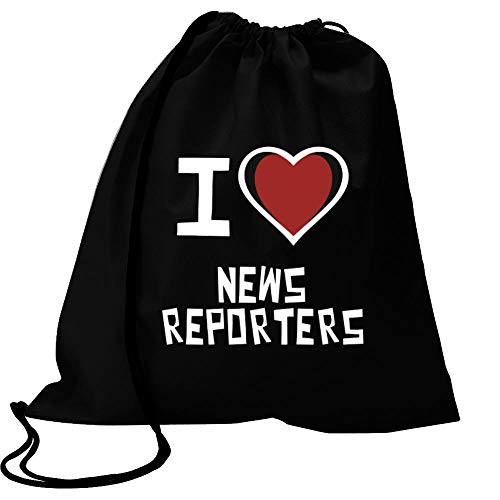 Idakoos I Love News Reporters Bicolor Heart Sport Bag