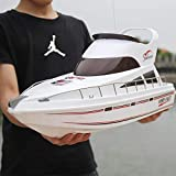 URVP Electrical USB Rechargeable Remote Control Boats Kids Adults Radio Controlled Ship 2.4 GHz Model RC Vessel 4CH Scale Luxury Yacht Salina Number for 12 Year Old Boys Games and Toys Gift 70cm