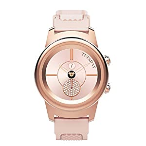 3Plus Callie Hybrid SmartWatch for Women, 30+ Day Battery | Heart Rate Monitor, Pedometer, TFT Vibrant Display, Sleep Tracker, Calorie/Step Counter, Music Controls, for iPhone and Android | Rose Gold