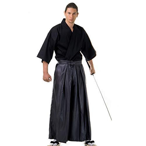 Princess of Asia Japan Samurai Iaido Outfit Set Kendo Gi Kimono & Hakama Hose (Grau & Schwarz)