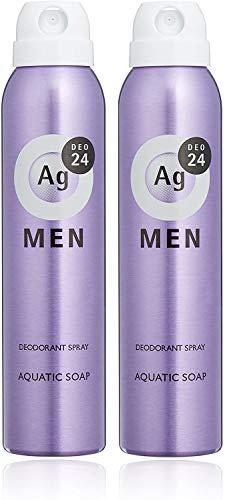 エージーデオ24 【医薬部外品】メンズ デオドラントスプレー アクアティックソープの香り 100g セット 100グラム (x 2)