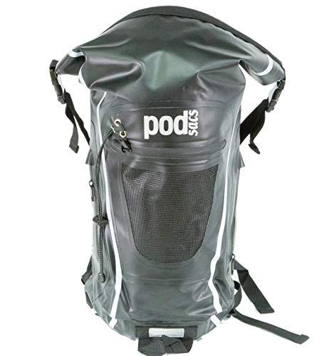 PODSACS Backpack Waterproof 20L Rucksack (Matt Black)