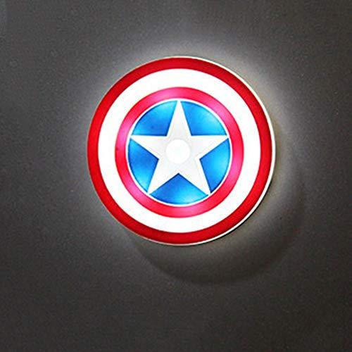Towel Rings Autoadesivo Magnetico del Magnete del Frigorifero Tridimensionale di Captain America A Induzione Automatica del Corpo L Luce Notturna del Frigorifero di Ricarica