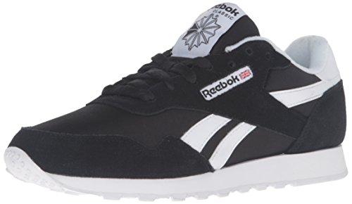 Reebok Women's Royal Nylon Walking Shoe, Us-Black/Black/White, 8.5 M US