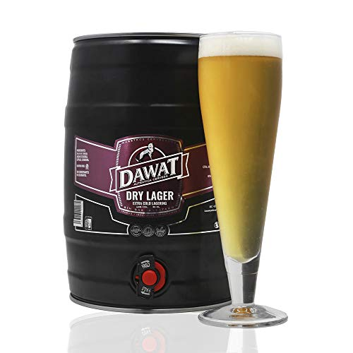 Barril de 5 litros de cerveza artesana nacional | Dawat Dry Lager. Extra Cold Lagering | 4,8% vol. | Sirve y comparte.