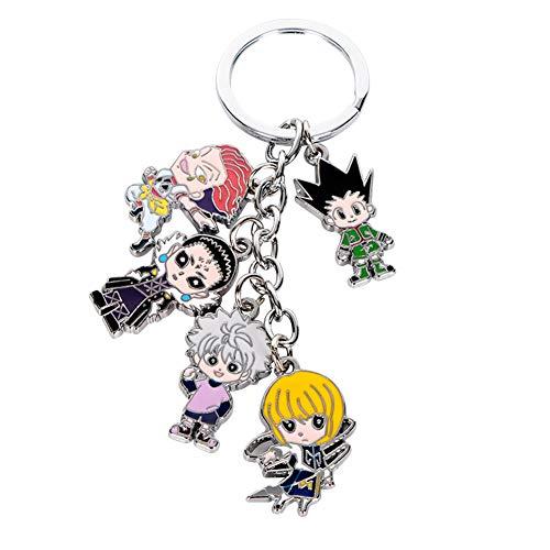 Templom SIX Hunter X Hunter Keychain Metallfiguren Anhänger Puppe Japanischer Anime Schlüsselanhänger
