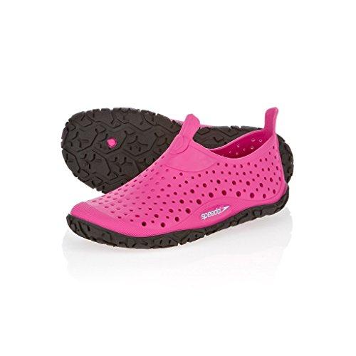Speedo JELLY JF Pink/Black 8079848002, Unisex-Kinder Sandalen, Pink (pink/schwarz), EU 29.5