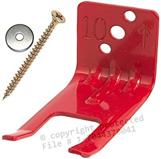 Fire Extinguisher Bracket - (Lot of 1) Amerex Fork Style, Wall Hook, Mount, Hanger for 5 to 13lb. Extinguishers with Valve Body Slots - FREE SCREWS & WASHERS