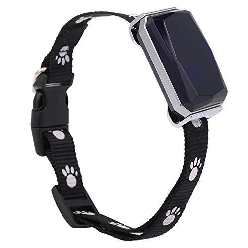 Nrpfell Rastreador GPS en Tiempo Real Rastreador GPS Ligero para Mascotas, Perros, Gatos, IP67, Impermeable, Localizador de Mascotas, Rastreador, Collar de Seguimiento