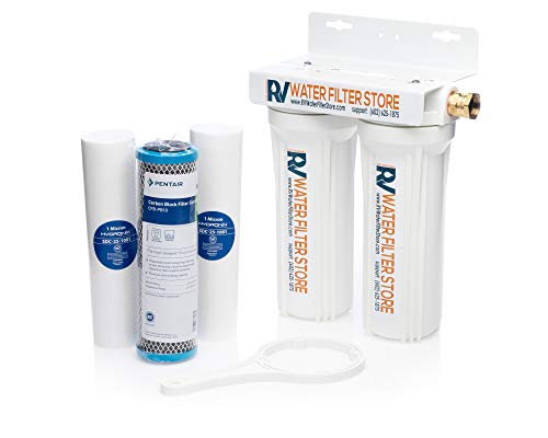 Essential RV Water Filter System with Hose Fittings - Premium RV Water Filtration System with Cyst Removal