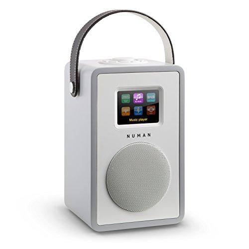 NUMAN Mini Two - Design Internetradio, Retro Look, WLAN Radio, Mediaplayer, DAB/DAB + / UKW-Tuner, TFT-Display, RDS, Wi-Fi/LAN-Konnektivität, Bluetooth, 2-Band Equalizer, AUX, grau