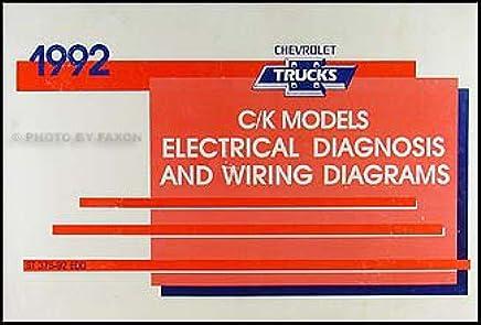 1992 Chevy C/K Pickup, Suburban, Blazer Wiring Diagram ... on