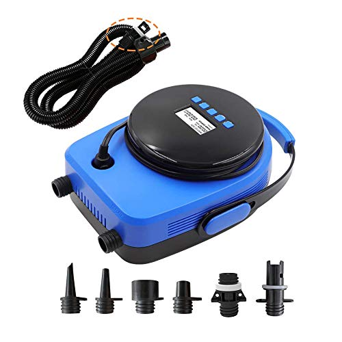 20PSI Electric SUP Pump for Inflatable Stand-up Paddleboards, 12V Car Paddle Board Quick-Fill Inflator&Deflator Pump for Inflatable Kayak/Yoga Ball/Tent/Raft