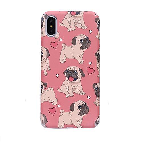 Funda para iPhone XR, para iPhone XR, funda para iPhone XR, diseño de bulldog francés, color rosa, carcasa rígida para iPhone Xs Max XR 6S 7 8 Plus (Bulldog, para iPhone Xr)