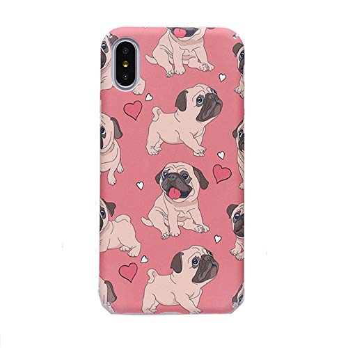 Funda para iPhone Xs Max, para iPhone Xs Max, lindo Bulldog Francés Cachorro Rosa duro PC teléfono cubierta para iPhone Xs Max XR 6S 7 8 Plus (Bulldog, para iPhone Xs Max)