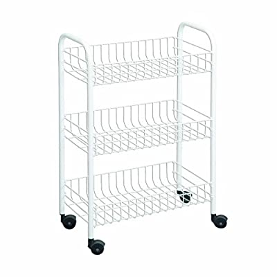 Wire World 3-Tier Rolling Cart