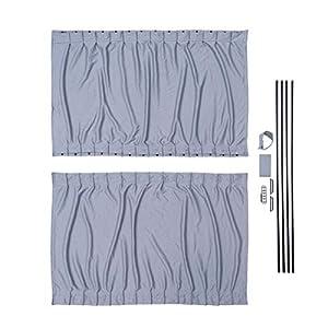 Cortinas gris a medida LH puerta corredera y RH Panel lateral Camper Van Kit para VW Crafter (06-17): Amazon.es: Coche y moto
