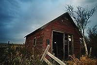 ERZAN1000ピース ジグソーパズル古い放棄された赤い小屋の別棟の建物減圧大人知育玩具