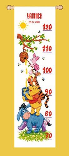 Vervaco Kit au point compté Disney Winnie et ses amis,multicolore,18 x 63 cm