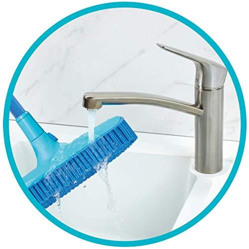 Spontex Catch & Clean, Kehrbesen mit Gummiborsten, Teleskopstiel und praktischem Auffangbehälter, hygienische und effiziente Reinigung für alle Bodenbeläge, 1 Set - 5