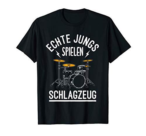 Echte Jungs Spielen Schlagzeug - Lustiges Geschenk Drummer T-Shirt