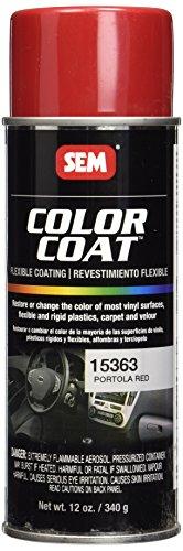 Tinte base disolvente en aerosol para cuero, vinilo, plasticos y moquetas (15363 Portola Red)