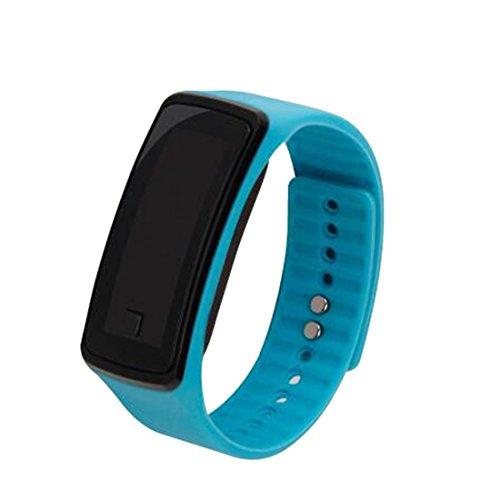 joyliveCY-Moda Deportes Reloj de Pulsera electr¨nica LED Reloj de Pulsera Unisex Cielo Azul de los Amantes