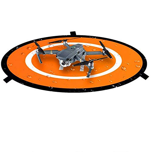 Luminous Drones Landing Pad 75cm/30'', Universal Waterproof Foldable Landing Pads Helipad for RC Drones Helicopter, PVB Drones, DJI Mavic Air Pro Phantom 2/3/4/Pro, Antel Robotic, 3DR Solo