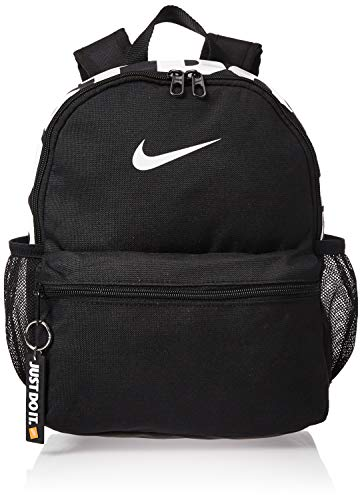 Nike Y Nk Brsla Jdi Mini Bkpk Sports Backpack - Black/Black/(Glossy White), MISC